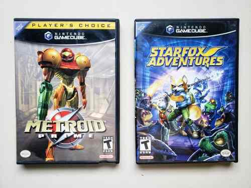 Juegos gamecube metroid prime & star fox adventures