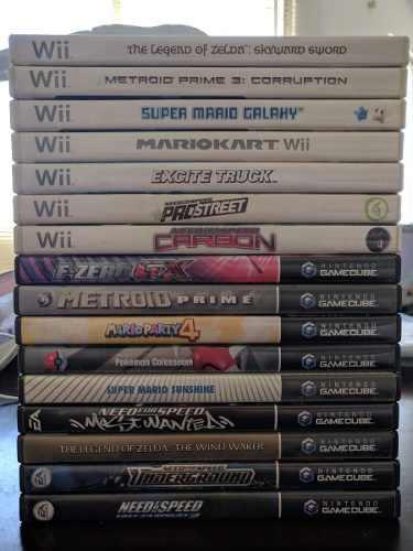 Lote de 22 juegos nintendo wii, 3ds, gamecube, clasicos
