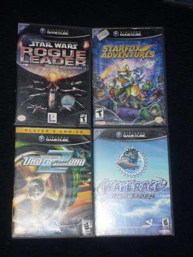 Lote de 4 juegos para gamecube starfox adventures rogue lead