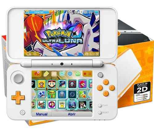 New 2ds xl blanco+ 200 juegos+32gb y temas