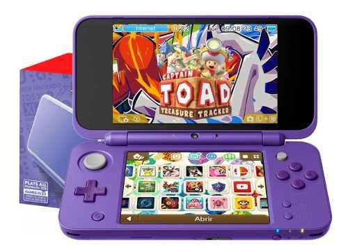 New 2ds xl morado +200 juegos + toad + pokemon