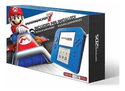 Nintendo 2ds electric blue con mario kart 7