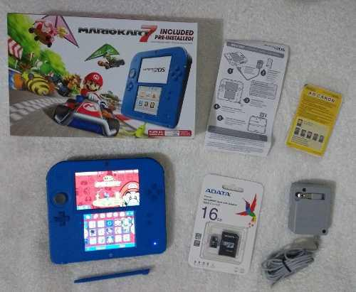 Nintendo 2ds electric blue + juegos 16 gb