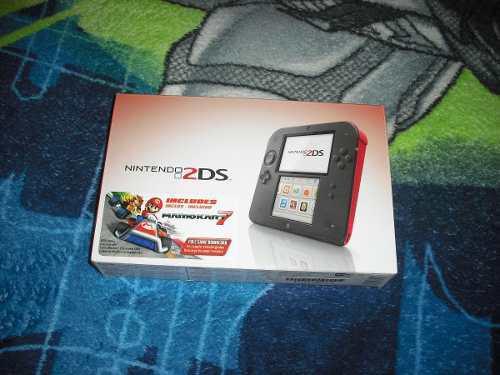 Nintendo 2ds + mario kart 7 + mochila + micas + sd 4gb
