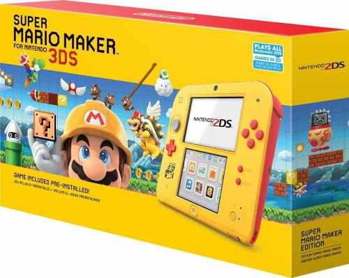 Nintendo 2ds súper mario maker edition with súper mario