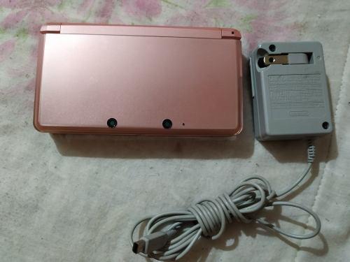 Nintendo 3ds color rosa pink con cargador original $1298
