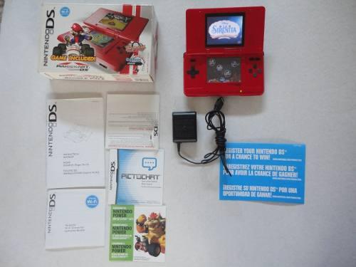 Nintendo ds rojo edición mario kart original caja y