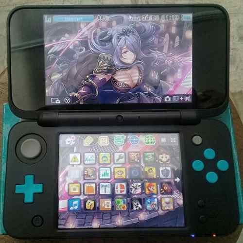 Nintendo new 2ds xl negra 16gb usado + 15 juegos digitales