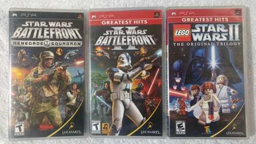 Pack 3 juegos star wars para psp + envio gtatis oportunidad!