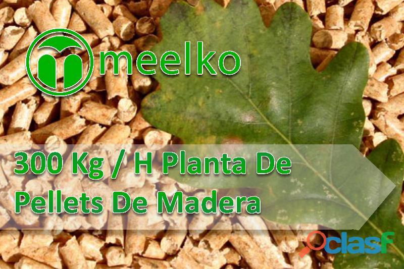300 kg / h planta de pellets de madera