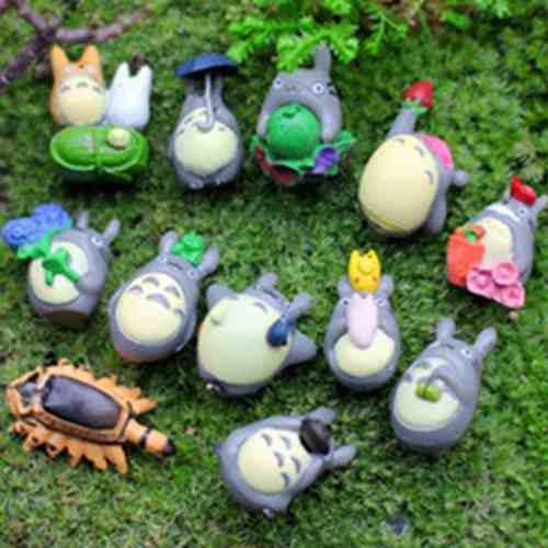 12 chinchillas micro decoraciones de paisaje muñecas