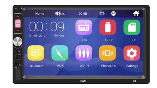 2din car stereo mp5 player 7 pulgadas fm radio bluetooth 4.0