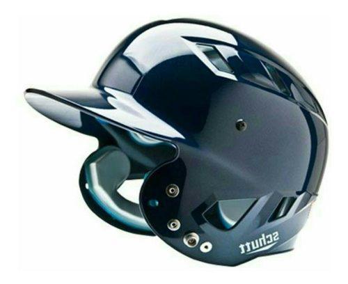 Casco de bateo beisbol/softbol schutt azul metalico xl
