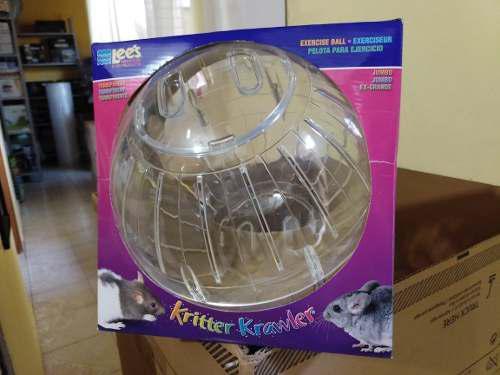 Esfera grande 25.4 cm transparente para hamster