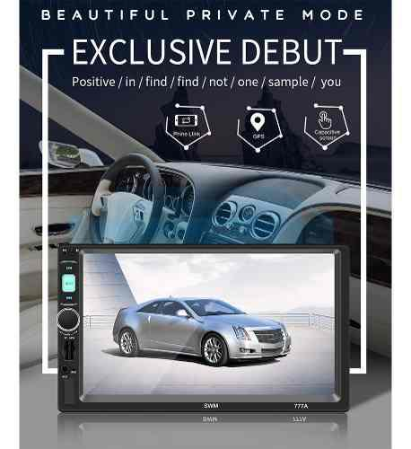 Estéreo 7 pantalla táctil fm video mp5 player auto radio u