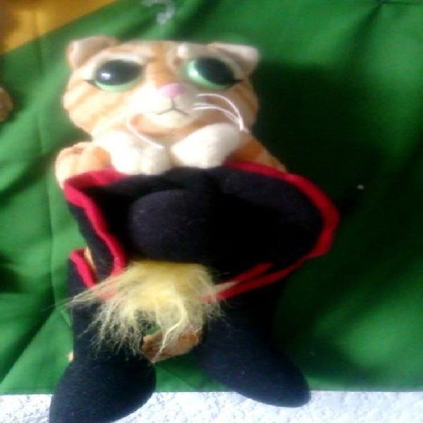 Gato con botas de peluche de la pelicula shrek de coleccion