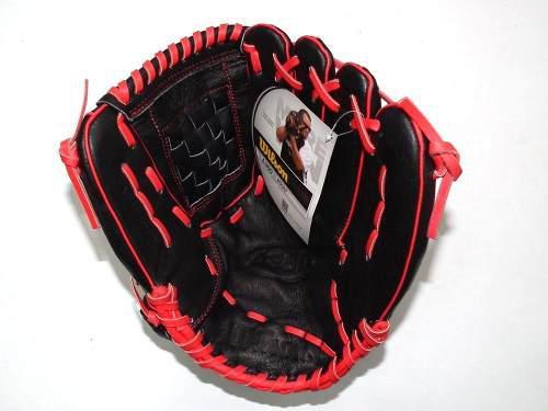 Guante para beisbol softbol wilson a360 13in negro rojo