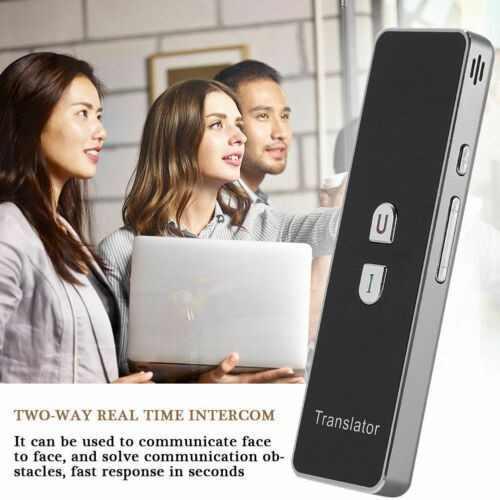 Portátil t6 inteligente traductor de voz portátil dos -