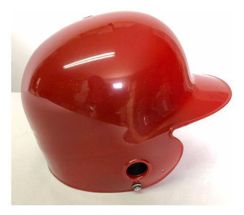 Softbol,beisbol casco bateo profesional de 2 orejeras rojo