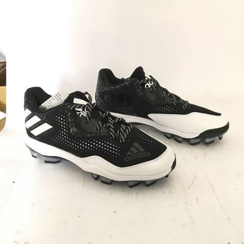 Spikes beisbol softbol adidas power 4 negro blan tqt # 24 mx
