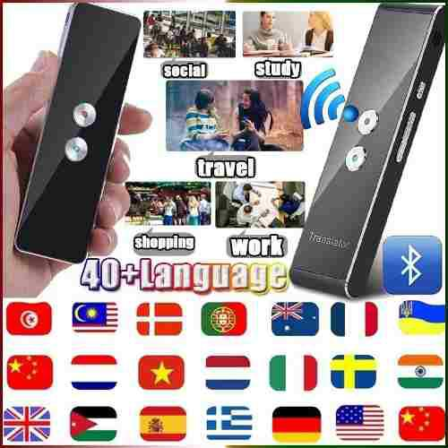 Traductor de voz máquina traducción instantánea 40 idioma