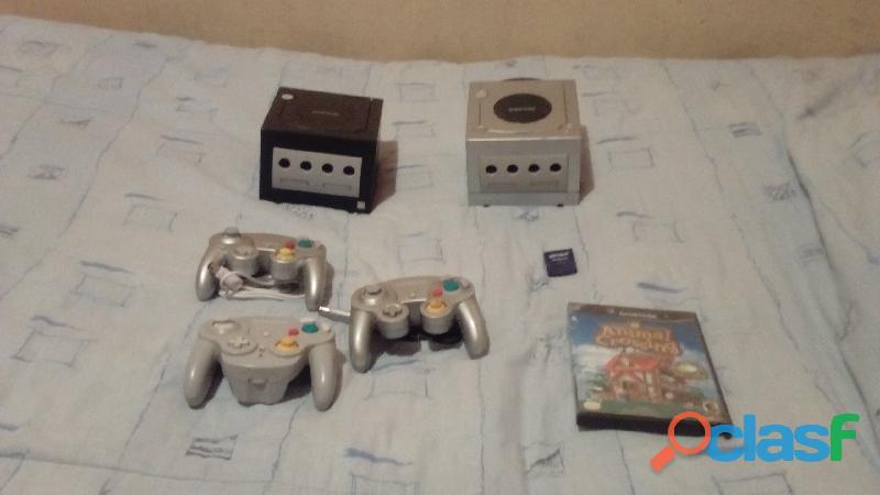 2 nintendo gamecube con 3 controles y juego original