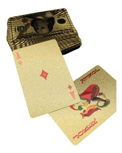 Baraja dorada poker gold 100 dolares cartas