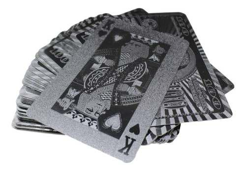 Baraja negra poker black 100 dolares cartas