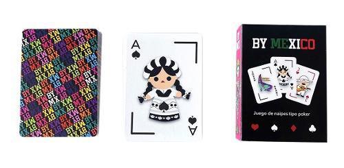By mexico juego de cartas tipo poker de motivos mexicanos