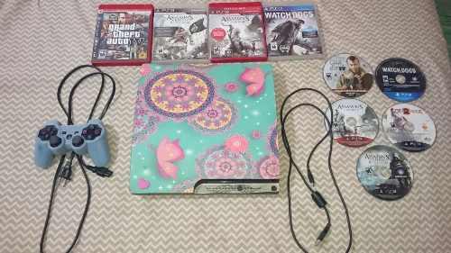 Consola playstation 3 ¡unica! 160gb / 8 juegos envio gratis