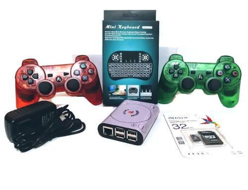 Consola retro mini con controles ps3 y mini teclado