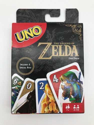 Juego de cartas uno zelda nintendo original en mano