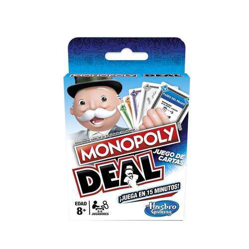 Juego de mesa monopoly deal juego de cartas familiar hasbro