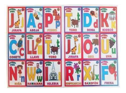 Lotería didáctica educativa letras abecedario español