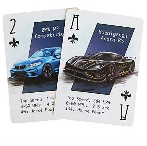 Naipes personalizados con coches geniales - baraja de cartas