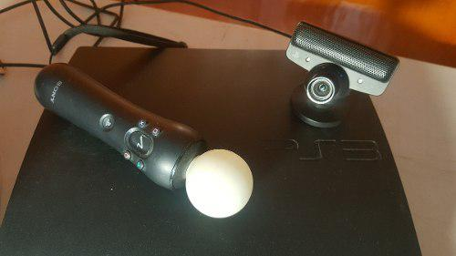 Playstation 3 + move + control + juegos