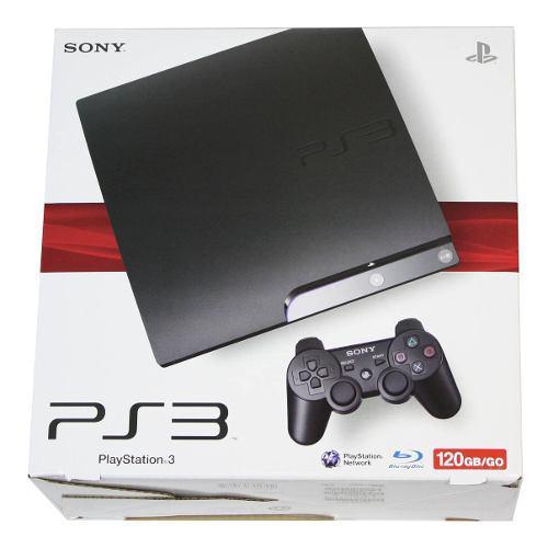 Playstation 3 slim 120gb en caja seminuevo.
