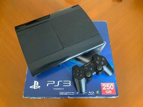 Playstation 3 slim 250gb - 1 control color azul - 6 juegos