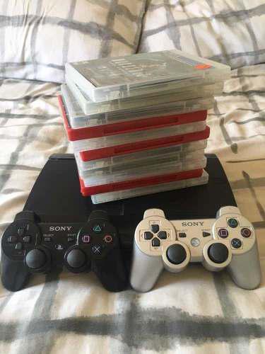 Playstation 3 slim negro, 11 juegos, 2 controles