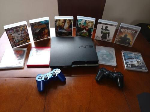 Playstation 3 sony con 10 juegos