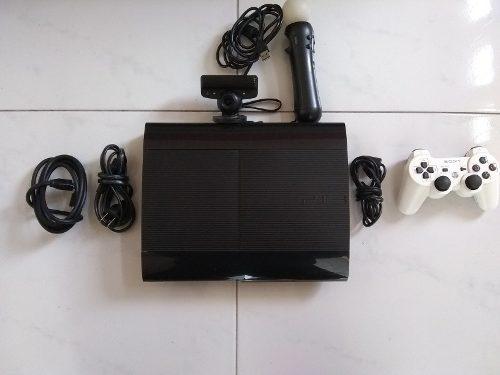 Playstation 3 super slim, con 20 juegos y playstation move