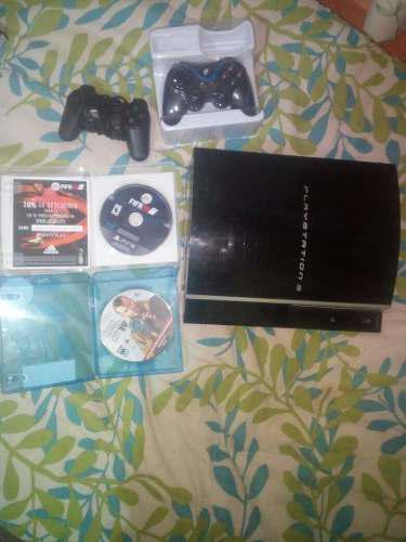 Playstition 3 con dos juegos y dos controles