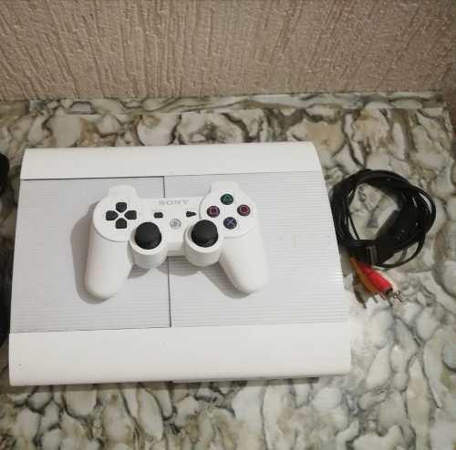 Ps3 blanco + 1 control + cables + 250gb + juegos en memoria