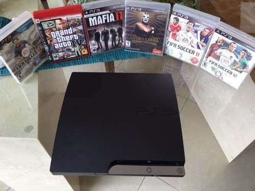 Ps3 impecable, juegos, controles y cargador inalambrico !!!