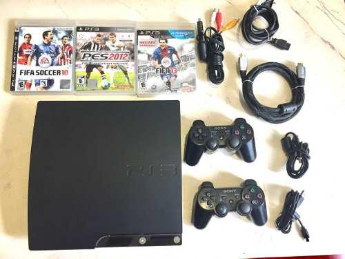 Ps3 playstation 3 slim +2 controles + 5 juegos originales