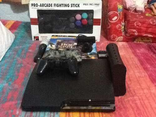 Ps3 slim jail 2tb 260 juegos+move+arcade