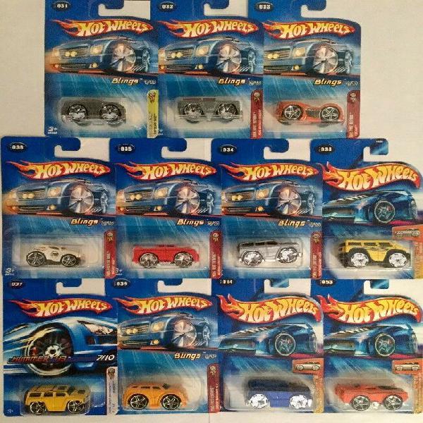 Hot wheels blings primera edición 2005 (11 autos)