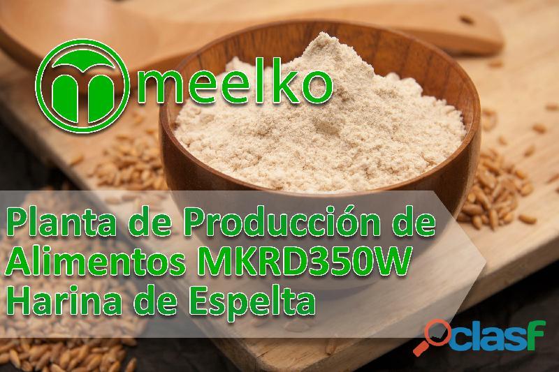 Meelko producción de alimentos mkrd350w harina de espelta