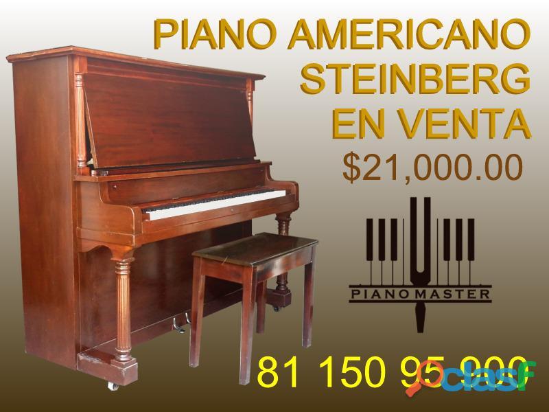 "Piano steinberg vertical 56"", new york, eua"