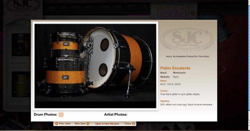 Batería sjc custom drums (tama, dw, pearl, pork pie, spaun)